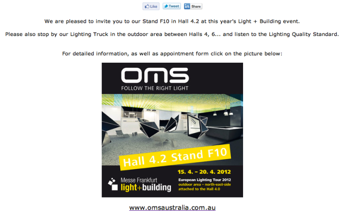 OMS Light + Build Newsletter Invite
